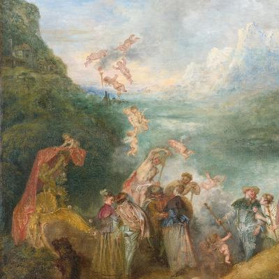 Pilgrimage to Cythera (Embarkation for Cyther) Detal: Putti, 1717-Jean Antoine Watteau-Giclee Print