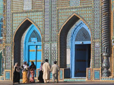 Pilgrims at the Shrine of Hazrat Ali, Who was Assassinated in 661, Mazar-I-Sharif, Afghanistan-Jane Sweeney-Photographic Print