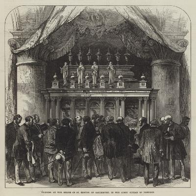 Pilgrims at the Shrine of St Edmund of Canterbury, in the Abbey Church of Pontigny--Giclee Print