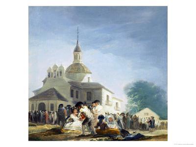 Pilgrims Before the Capel of Saint Isidore La Ermita De San Isidro El Dia De La Fiesta 1788-Suzanne Valadon-Giclee Print