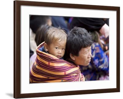 Pilgrims, Buddhist Festival (Tsechu), Trashi Chhoe Dzong, Thimphu, Bhutan-Angelo Cavalli-Framed Photographic Print