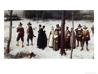 Pilgrims Going to Church-George Henry Boughton-Giclee Print