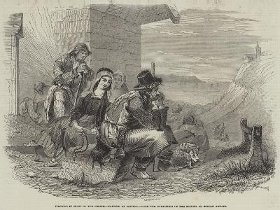 Pilgrims in Sight of the Shrine--Giclee Print