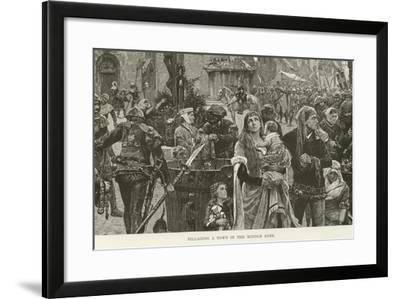 Pillaging a Town in the Middle Ages--Framed Giclee Print
