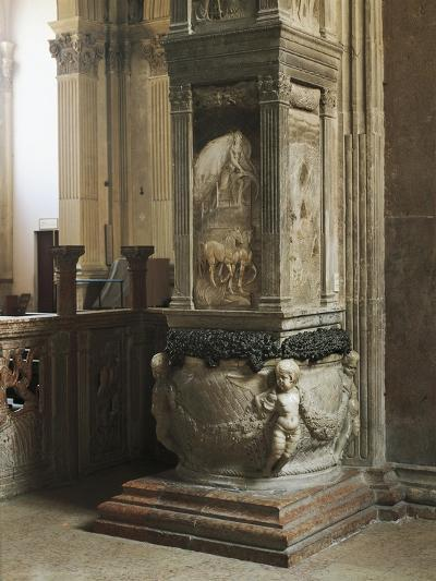 Pillar Decorated with Relief--Giclee Print
