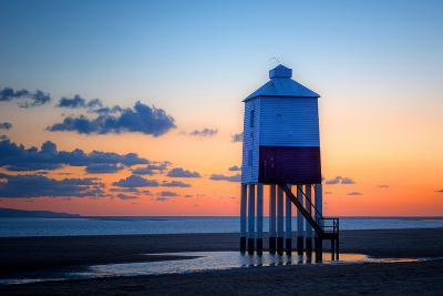 Pillar Lighthouse on Beach at Sunset-Benjamin Graham-Photographic Print