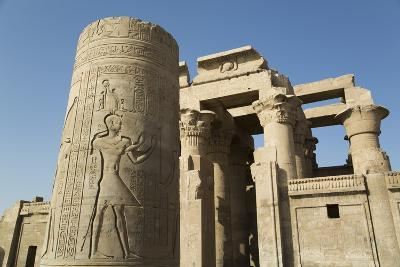 Pillar with Bas-Relief, Forecourt, Temple of Haroeris and Sobek-Richard Maschmeyer-Photographic Print