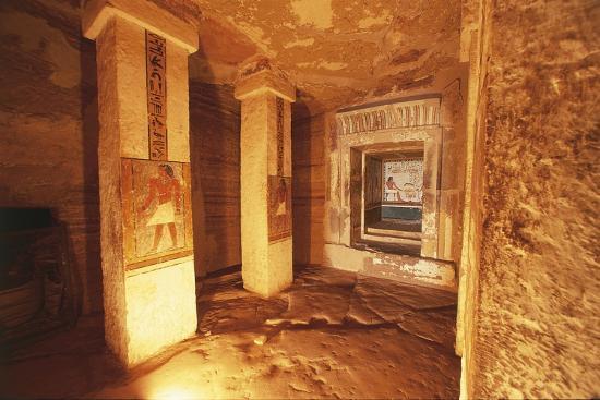 Pillared Chamber at Tomb of Sarenput II--Giclee Print