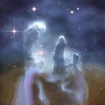 Pillars of Creation in the Eagle Nebula-Stocktrek Images-Art Print
