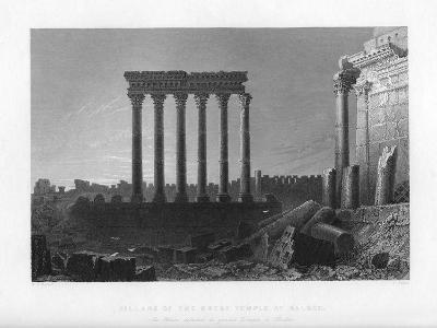 Pillars of the Great Temple at Balbec, 1841-J Sands-Giclee Print