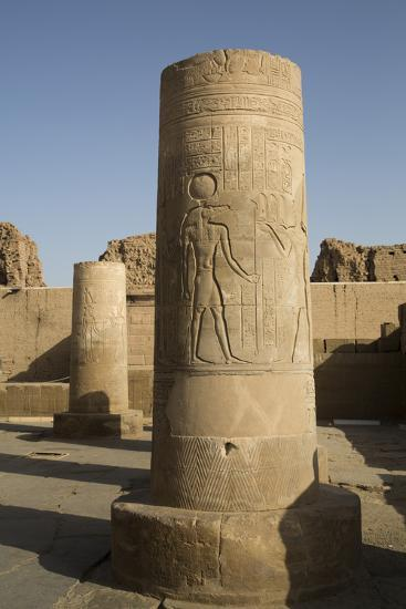 Pillars with Bas-Relief of the God Sobek-Richard Maschmeyer-Photographic Print