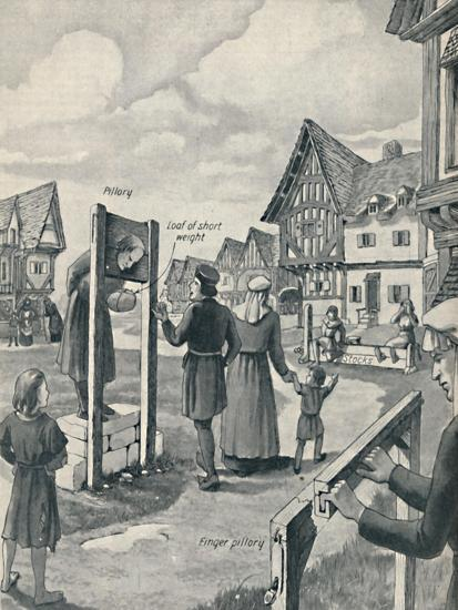 'Pillory and Stocks of the Middle Ages', c1934-Unknown-Giclee Print