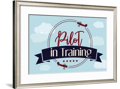 Pilot in Training-ND Art-Framed Art Print