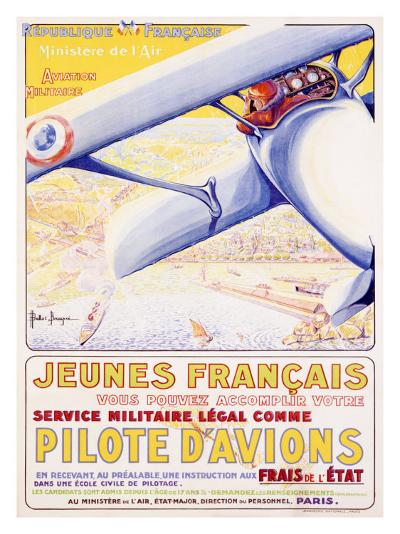 Pilote d' Aviationes Military Aviation--Giclee Print