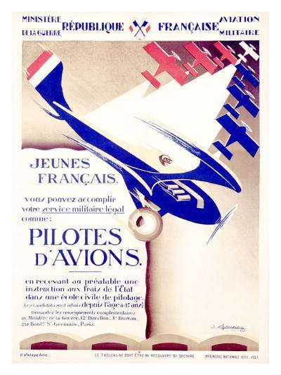 Pilotes d'Avions- Chassaing-Giclee Print