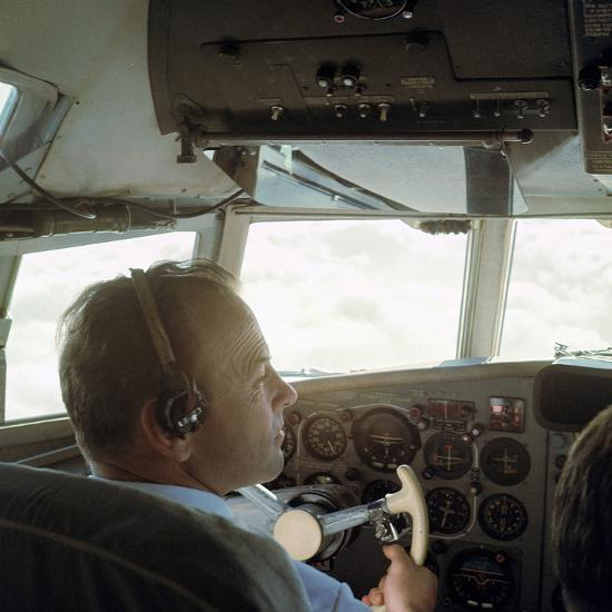 Piloting an Illyusin 18 Airliner-Unknown-Photographic Print