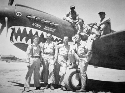 Pilots of the American Volunteer Group, or the 'Flying Tigers' in China, 1941- 42--Giclee Print