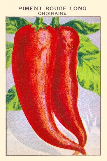 Piment Rouge Long Ordinaire--Art Print