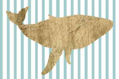 Pin Stripe Whale I-Studio W-Art Print