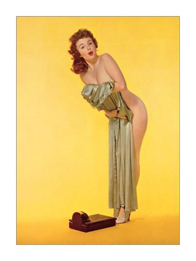Pin Up and Scale--Giclee Print