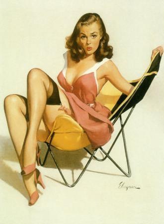 Pin-Up Girl: Beach Chair
