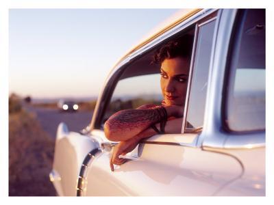 Pin-Up Girl: Cadillac Tattoo-David Perry-Giclee Print