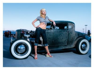 Pin-Up Girl: Deuce Coupe Rock a Billy-David Perry-Giclee Print