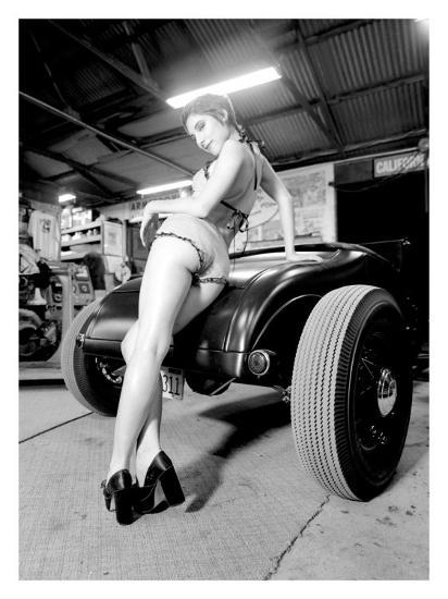 Pin-Up Girl: Deuce High Boy-David Perry-Giclee Print
