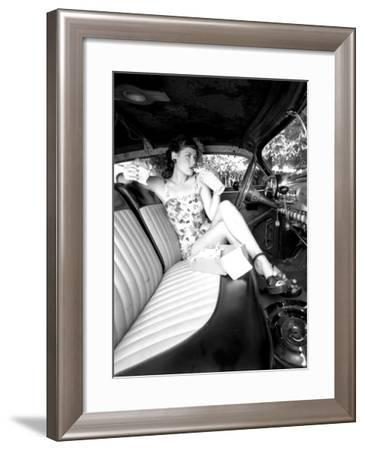 Pin-Up Girl: Front Seat Street Rod-David Perry-Framed Giclee Print