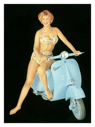 Pin-Up Girl: Italian Vespa Piaggio--Giclee Print