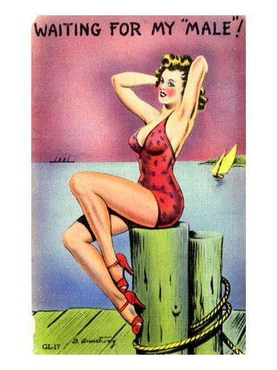 Pin-Up on the Dock of the Bay, 1945--Giclee Print