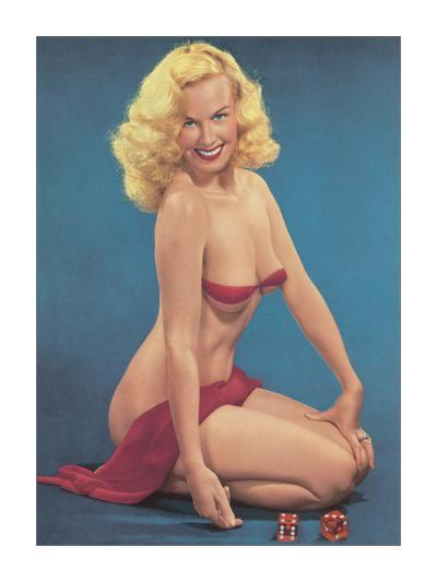 Pin Up with Dice--Giclee Print