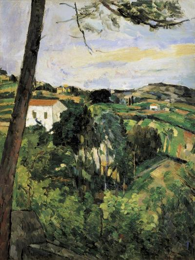 Pine-Tree at L'Estaque (Landscape with Red Roof)-Paul C?zanne-Art Print