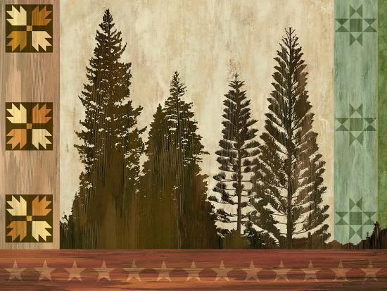 Pine Trees Lodge I-Tania Bello-Art Print