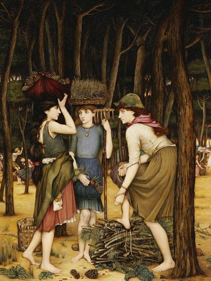 Pine Woods at Viareggio-John Roddam Spencer Stanhope-Giclee Print