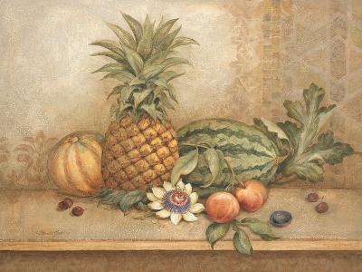 Pineapple and Passion Flower-Pamela Gladding-Art Print