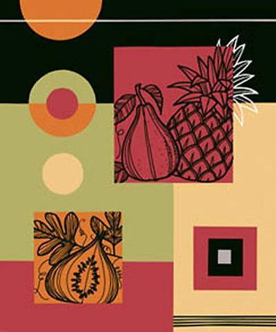 Pineapple and Pear--Art Print