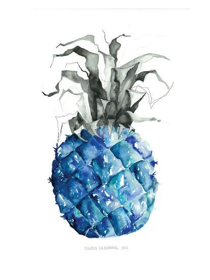 Pineapple_blue--Art Print