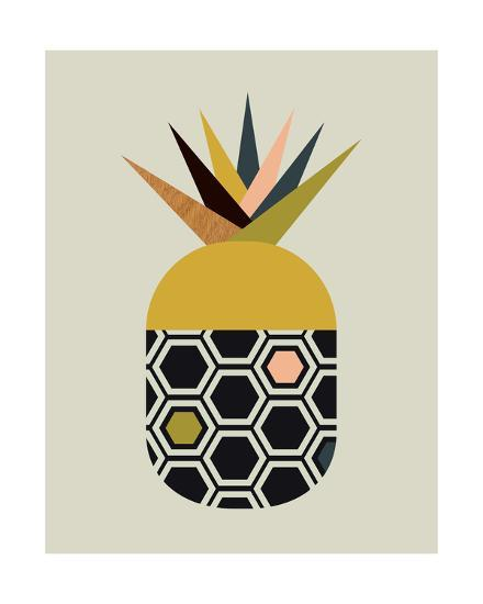 Pineapple-Little Design Haus-Giclee Print