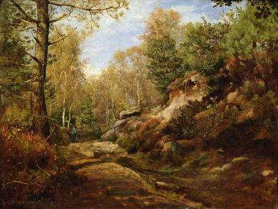 Pines and Birch Trees or, The Forest of Fontainebleau, c.1855-57-Henri Joseph Constant Dutilleux-Giclee Print