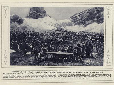 Ping-Pong at the Italian Front!--Photographic Print