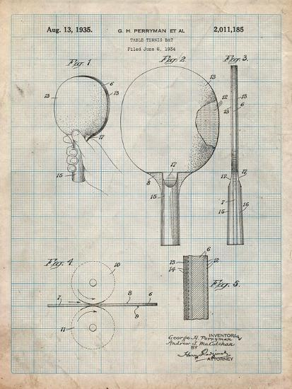 Ping Pong Paddle Patent-Cole Borders-Art Print