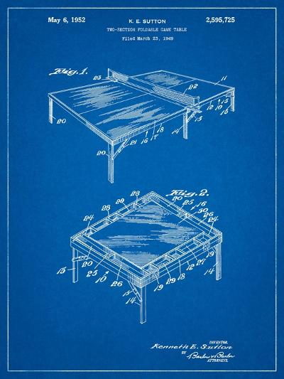 Ping Pong Table Patent-Cole Borders-Art Print