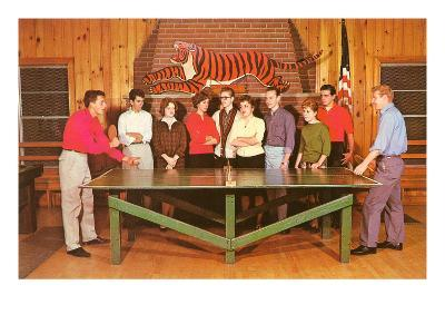 Ping-Pong Tournament, Retro--Art Print