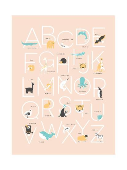 Pink Alphabet-Kindred Sol Collective-Art Print