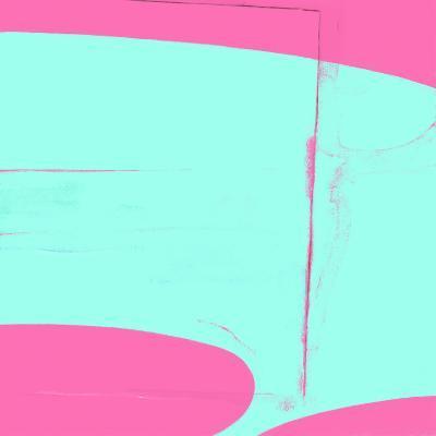 Pink And Cyan Abstract-Kasi Minami-Art Print