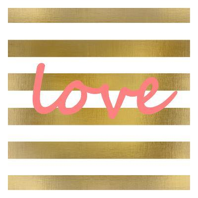 Pink And Gold Love-Kimberly Allen-Art Print