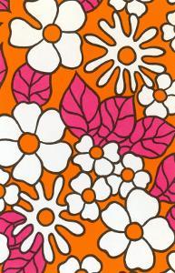 Pink and Orange Floral Pattern