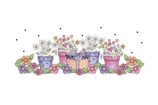 Pink and Purple Border 3-Maria Trad-Giclee Print