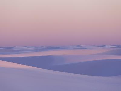 Pink and Purple Illuminated Sand Dunes During Sunset-Mike Theiss-Photographic Print